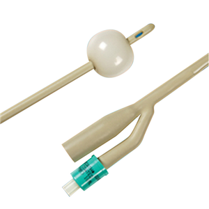 Picture of Bard Biocath Foley Balloon Catheter Male 2-Way Bard Biocath Foley Balloon Catheter, Male, 20FG, 2-Way, 10ml Balloon, 43cm Long, Hydrogel-Coated Latex, Yellow Each