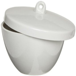 Picture of Livingstone Low Wall Crucible with Lid Crucible, 45ml, 57 Diameter x 36 Height mm, Low Wall with Lid, Porcelain, 36 Sets Per Box