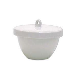 Picture of Livingstone Medium Wall Crucible with Lid Crucible, 40ml, 48 Diameter x 42 Height mm, Medium Wall with Lid, Porcelain, 45 Sets Per Box