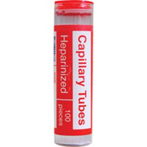 Picture of Livingstone Microhaematocrit Capillary Tube Livingstone Microhaematocrit Capillary Tube, Heparinized, 80 Microlitres, Borosilicate Glass, 100 per Vial, 10 Vials per Box