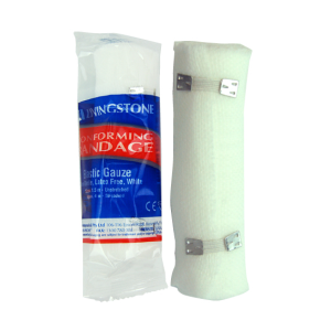 Picture of Healthcare-Wound Care Bandages Adhesive, Elastic Livingstone Conforming Bandage with Clips, 100mm x 4 Metres Stretched Length (1.5 Metres Unstretched), Each Roll