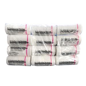 Picture of Medione Q Conforming Elastic Retention Bandage without Clips Q Conforming Elastic Retention Bandage without Clips, 10cm x 1.5 metres (Unstretched), 12 per Pack