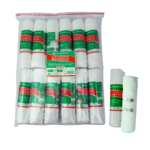 Picture of Bandages-Gauze Conforming White Cotton Livingstone Conforming Bandage with Clips, 150mm x 4 Metres Stretched Length (1.5 Metres Unstretched), 12 per Pack
