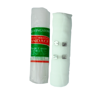 Picture of Healthcare-Wound Care Bandages Adhesive, Elastic Livingstone Conforming Bandage with Clips, 150mm x 4 Metres Stretched Length (1.5 Metres Unstretched), Each Roll