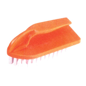 Picture of Cleaning Aids-General Cleansers Scrubs Livingstone Recyclable Plastic Cleaning Brush with Handle, (L)13.5 x (W)5.8cm, Orange, Each