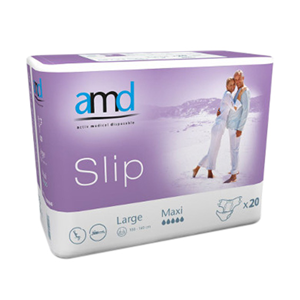 Picture of Cello AMD Slip Adult Pad Maxi AMD Slip Adult Pad, Cotton Feel, Maxi Absorbent, Large, 110-160cm, 3850ml, 20 per Bag, 4 Bags or 80 per Carton