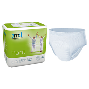 Picture of Cello AMD Adult Pull Up Diaper Pants AMD Adult Pull Up Diaper Pants, Cotton Feel, Super Absorbent, Extra Large, 110-170cm Waist, 14 per Bag