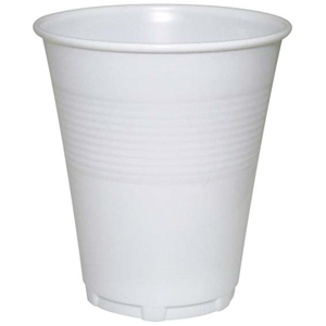 Picture of Food and Packaging Supplies-Disposable Cups Plastic Drinking Cups, 200ml Livingstone Plastic Drinking Cups, 200ml, Disposable, Recyclable, White, 1000 per Carton