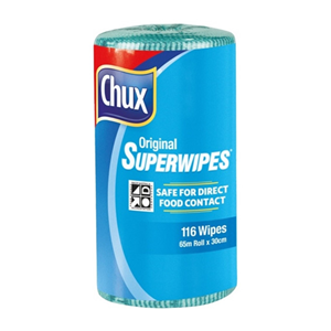 Picture of Chux Original Superwipes Perforated Chux Original Superwipes, 30cm x 65 Metres, Perforated, Green, 4 Rolls per Carton